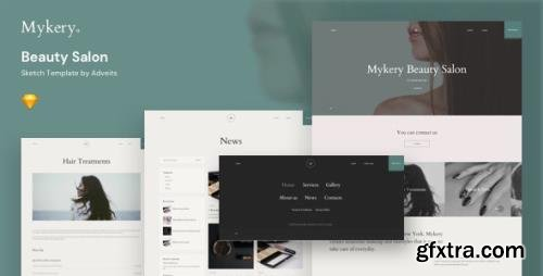 ThemeForest - Mykery v1.1.0 - Beauty Salon Sketch Template - 25816282