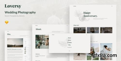ThemeForest - Loversy v1.1.0 - Wedding Photography Sketch Template - 26315093