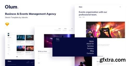 ThemeForest - Olum v1.1.0 - Business & Events Management Agency Sketch Template - 24517631
