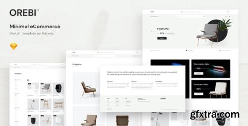 ThemeForest - Orebi v1.0.0 - Minimal eCommerce Sketch Template - 25797770