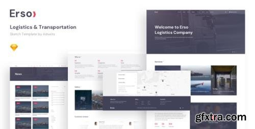 ThemeForest - Erso v1.1.0 - Logistics & Transportation Sketch Template - 24623381