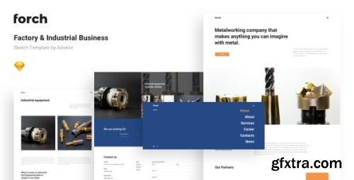 ThemeForest - Forch v1.1.0 - Factory & Industrial Business Sketch Template - 24649800