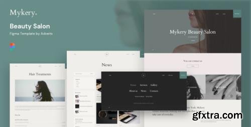 ThemeForest - Mykery v1.1.0 - Beauty Salon Figma Template - 26918828
