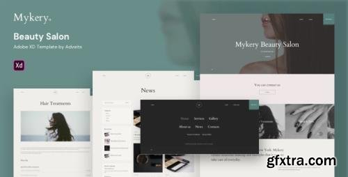 ThemeForest - Mykery v1.0.0 - Beauty Salon Adobe XD Template - 27157680