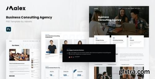 ThemeForest - Malex v1.0.0 - Business Consulting Agency PSD Template - 29360619