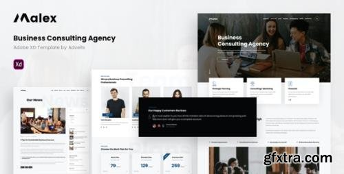 ThemeForest - Malex v1.1.0 - Business Consulting Agency Adobe XD Template - 28848682
