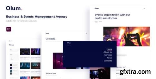 ThemeForest - Olum v1.0.0 - Business & Events Management Agency Adobe XD Template - 27939914