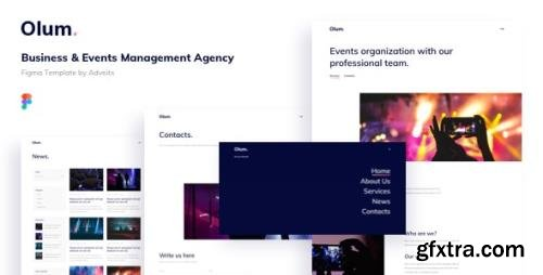 ThemeForest - Olum v1.0.0 - Business & Events Management Agency Figma Template - 28066389