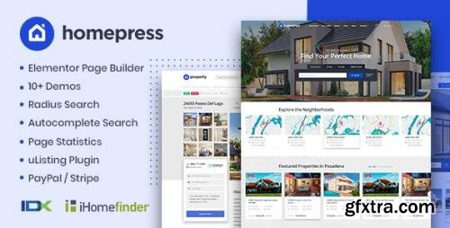 ThemeForest - HomePress v1.2.9 - Real Estate WordPress Theme - 23980909 - NULLED