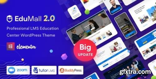 ThemeForest - EduMall v2.4.2 - Professional LMS Education Center WordPress Theme - 29240444 - NULLED