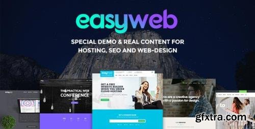 Webnus - EasyWeb v2.4.5 - WordPress Theme for Hosting, Web design and SEO