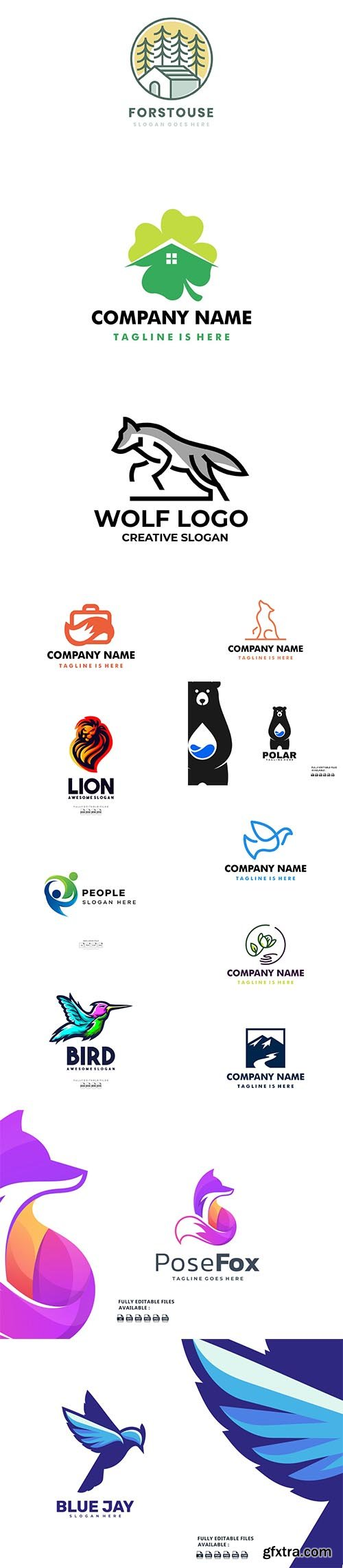 Colorful logo collection 2021