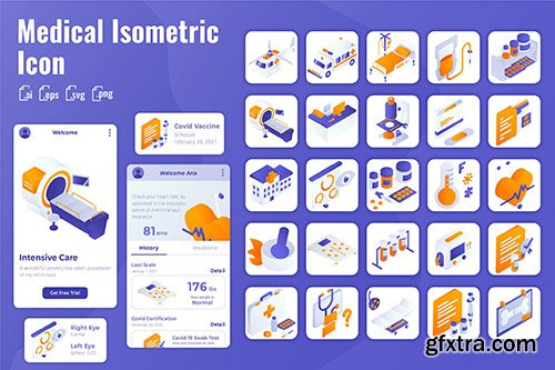 25 Iconset Isometric for Medical & Healthcare
