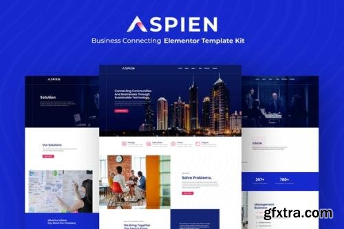 ThemeForest - Aspien v1.0.0 - Business Connecting Elementor Template Kit - 29888724