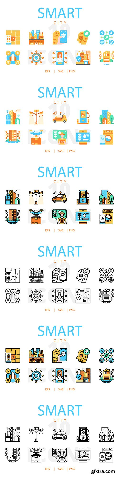 Smart City Vector Icons Collection