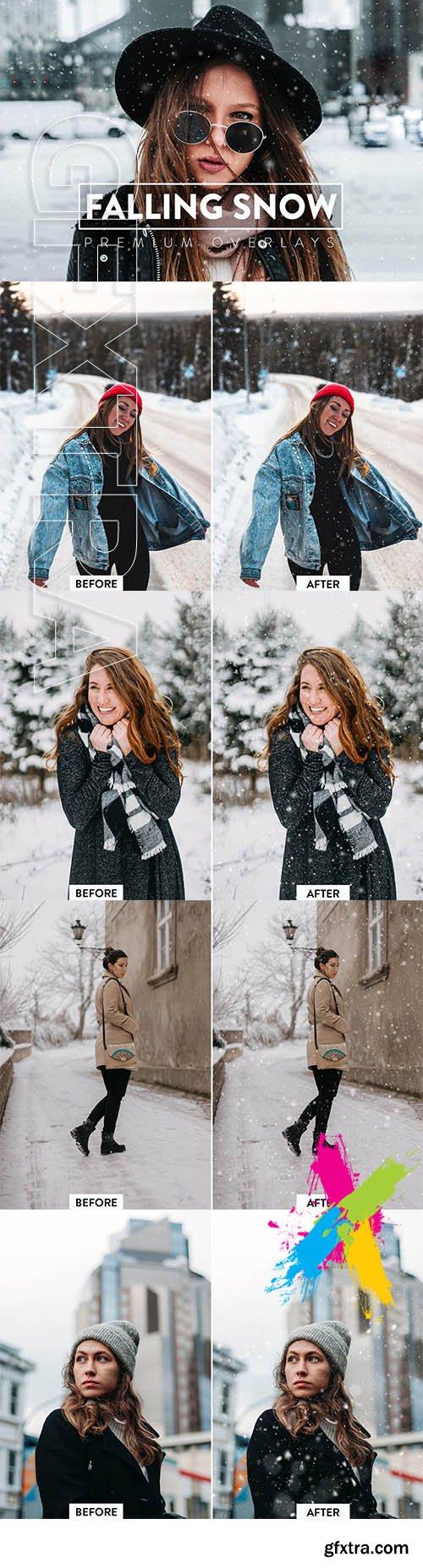 CreativeMarket - 30 Realistic Snow Overlays 5930833