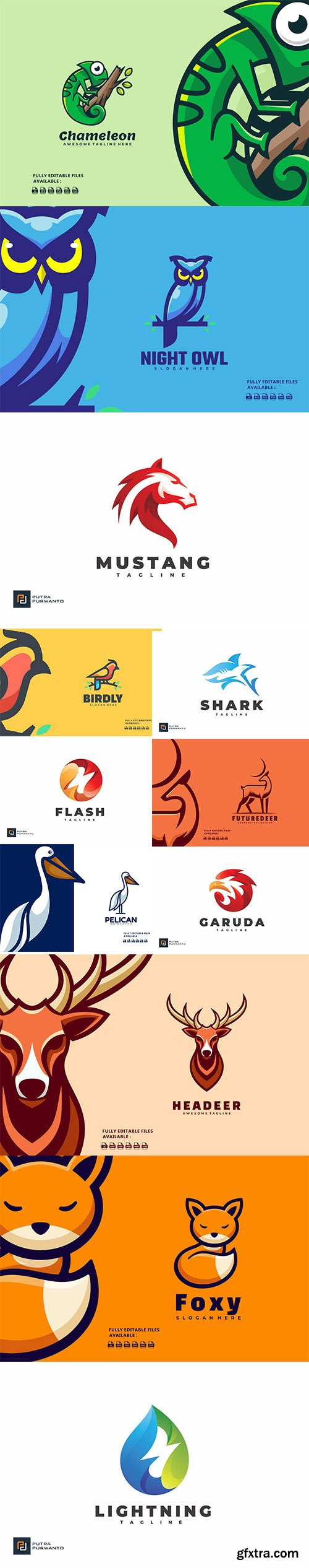 Colorful logo collection 2021 Vol 4