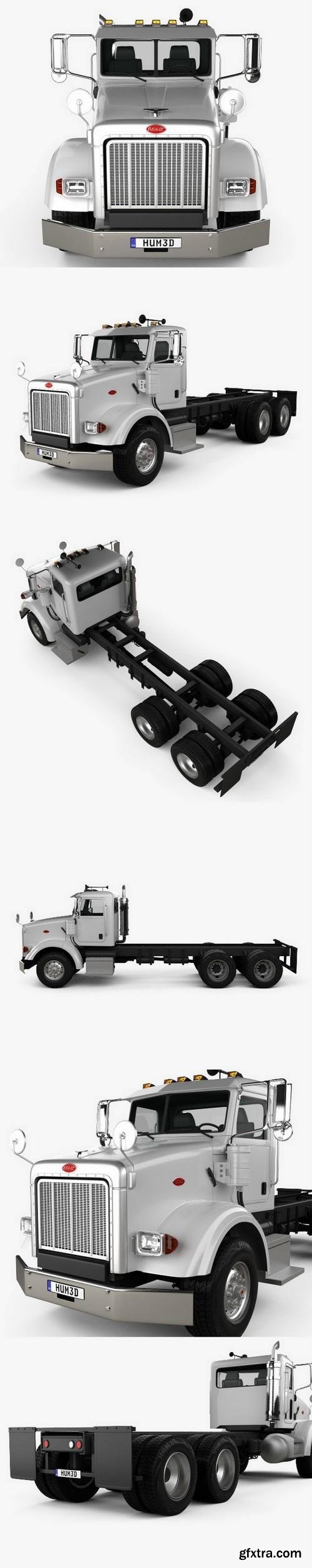 Peterbilt 357 DayCab Chassis Truck 2006 3D Model