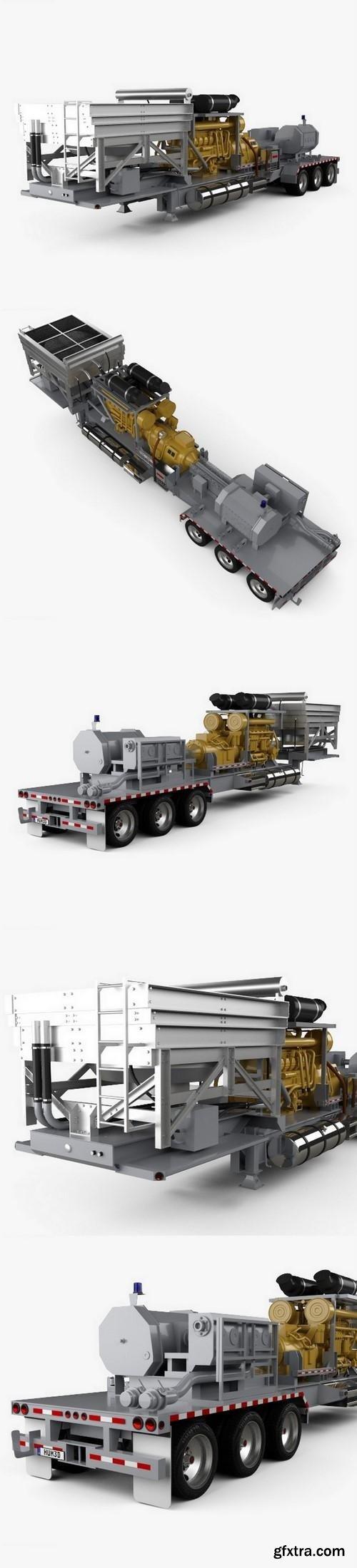 Trailer Semi Caterpillar Fracturing Unit 2018 3D Model