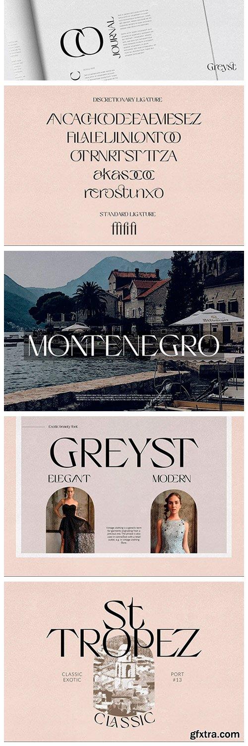 CM - Greyst - Exotic Modern Font 5900431