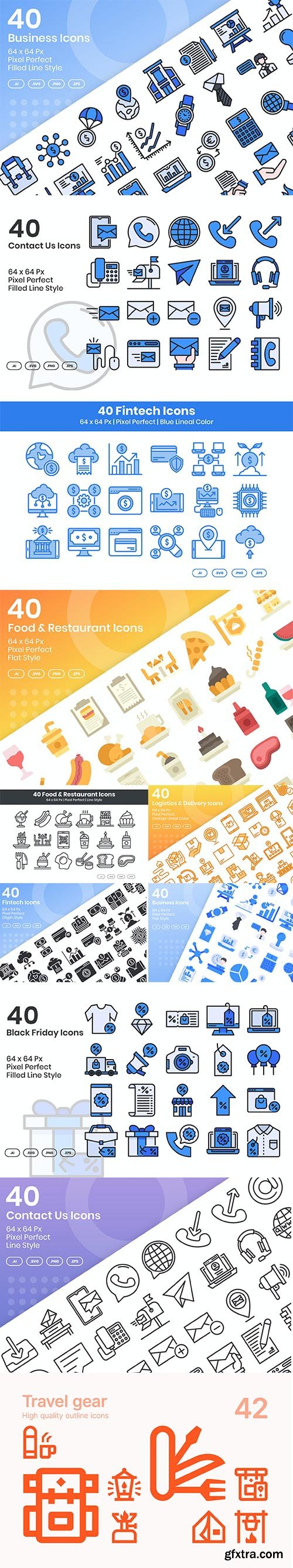 Mix collection of vector icons vol 6