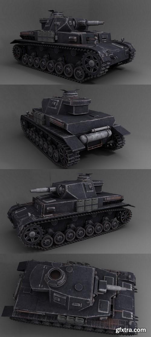 WW2 German Panzer IV asuf tank