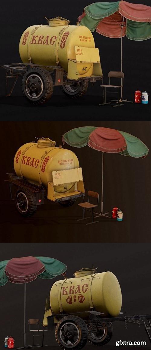 Soviet Kvass Barrel