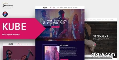 ThemeForest - Kube v1.0 - Music, Band, Dj Figma Template - 30816943