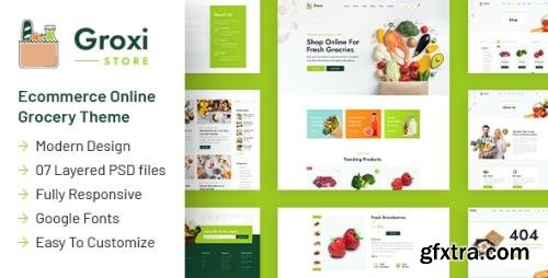 ThemeForest - Groxi v1.0 - Grocery Store Template - 29912661