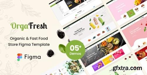 ThemeForest - OrgaFresh v1.0 - Organic & Fast Food Store Figma Template - 30781266