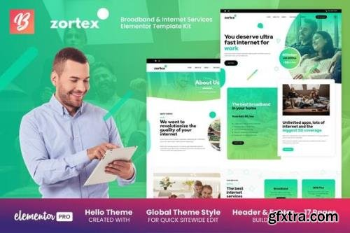 ThemeForest - Zortex v1.0.1 - Broadband & Internet Services Elementor Template Kit - 29453113