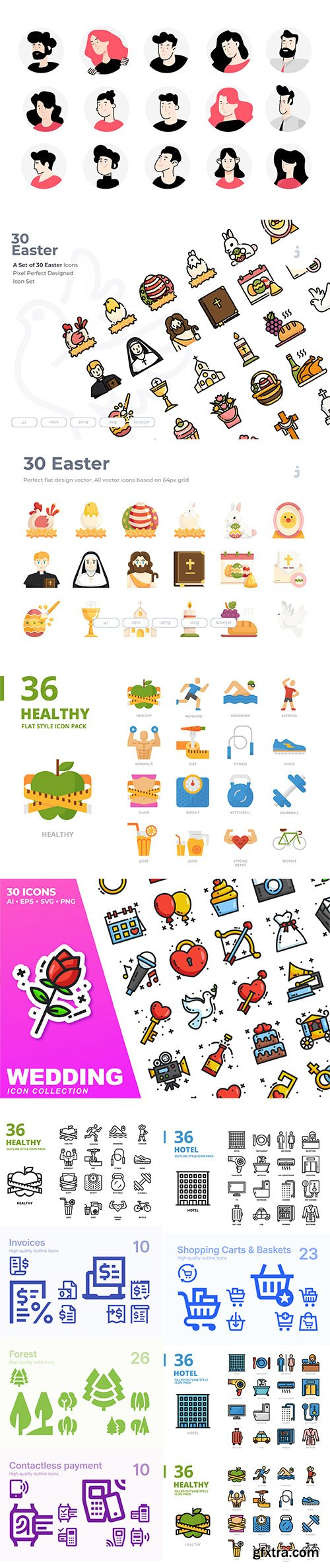 Mix collection of vector icons vol 7