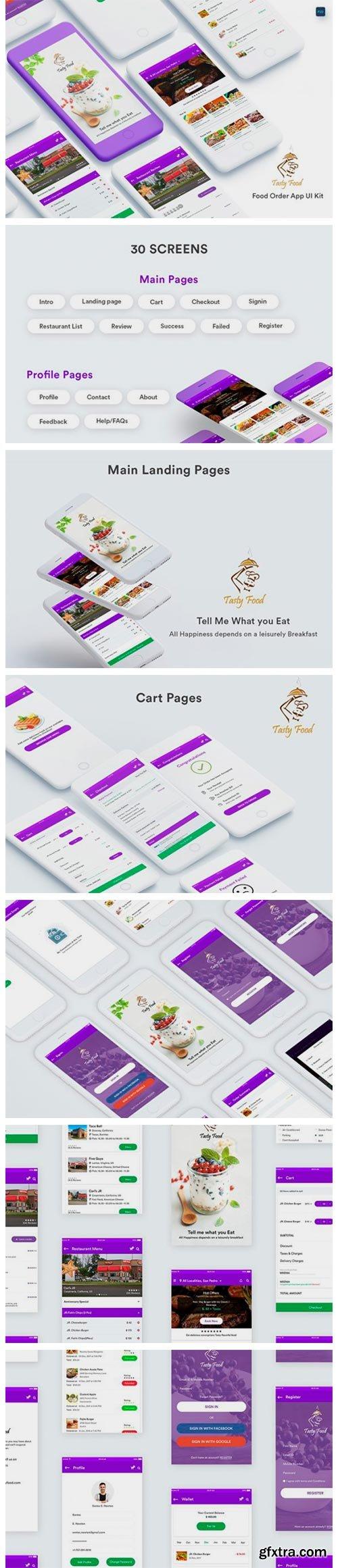 Online Food Order Mobile App UI Kit 9068977