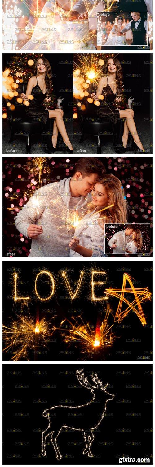Wedding Sparkler Overlay 8555430