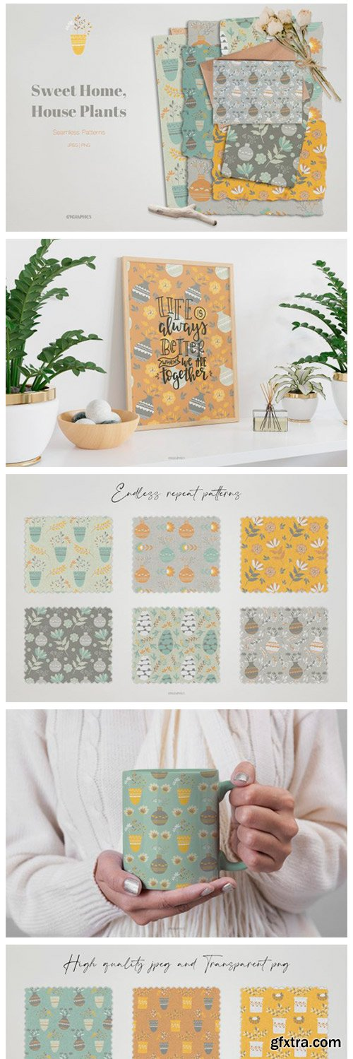 Sweet Home, House Plants Patterns 9070929