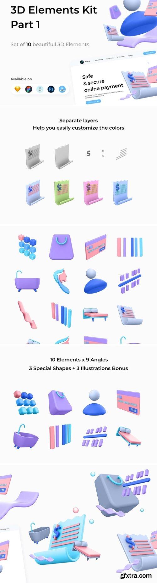 3D Elements Kit - Library Part 1
