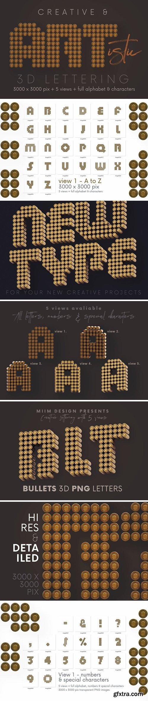 Bullets - 3D Lettering
