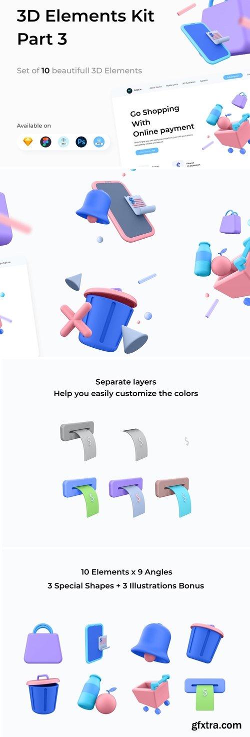 3D Elements Kit - Library Part 3