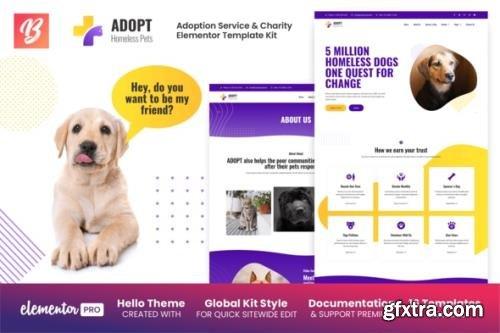 ThemeForest - Adopt v1.0.1 - Adoption Service & Charity Elementor Template Kit - 28949290