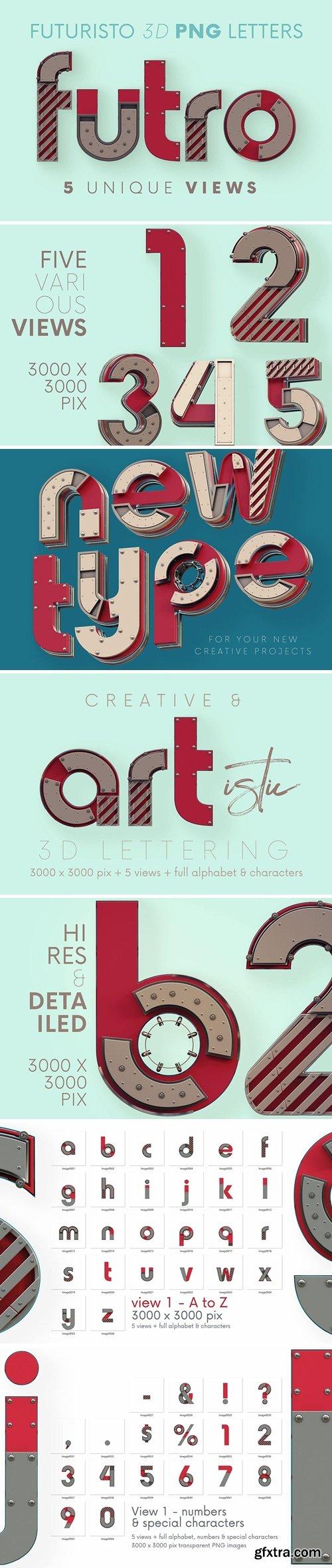 Futuristo - 3D Lettering