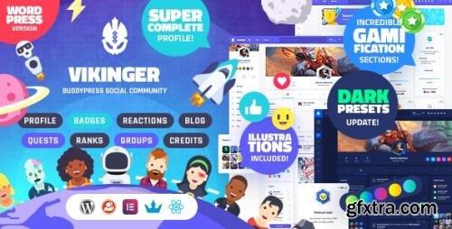 ThemeForest - Vikinger v1.3.5 - BuddyPress and GamiPress Social Community - 28612259