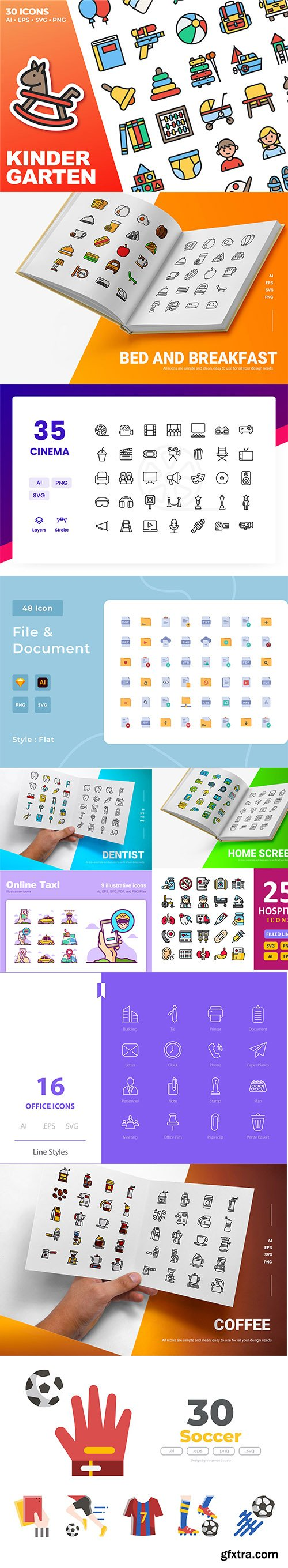 Mix collection of vector icons vol 8