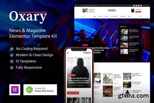 ThemeForest - Oxary v1.0.0 - News & Magazine Elementor Template Kit - 30972180