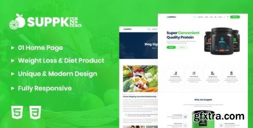 ThemeForest - Suppke v1.0 - Health Supplement Landing Page - 25642980