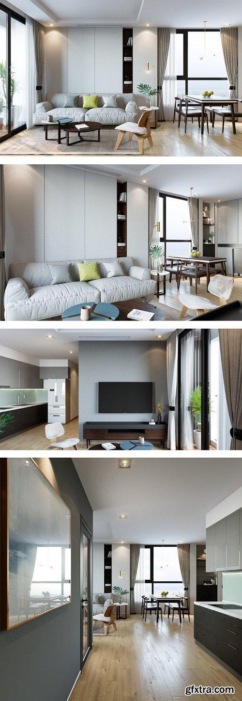 Livingroom Scene By Hang Do