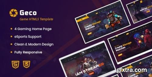 ThemeForest - Geco v1.0 - eSports Gaming HTML5 Template - 26217041