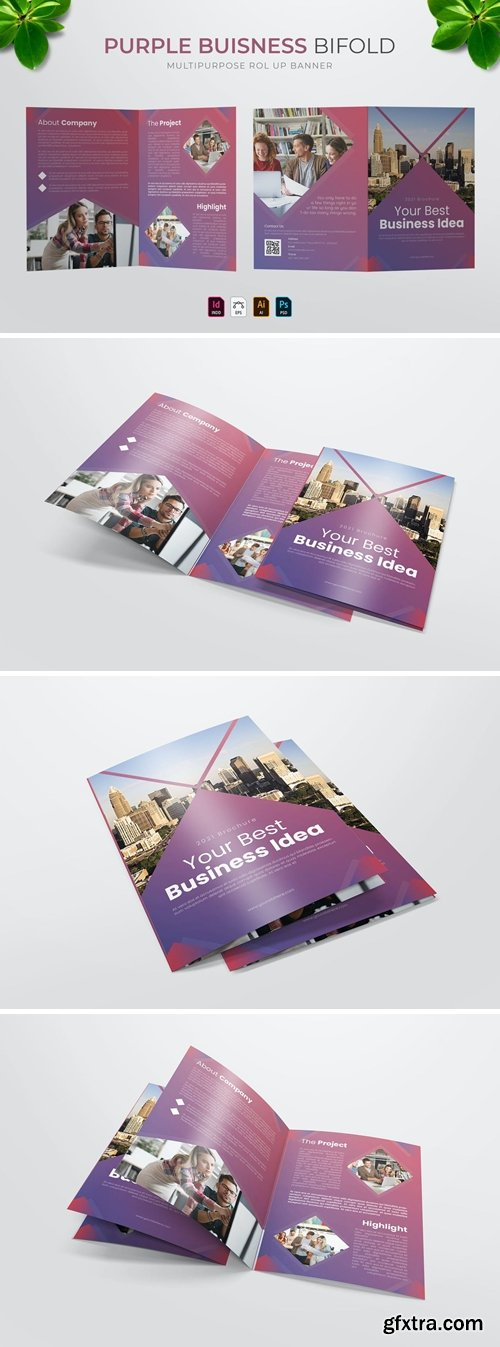Purple Business | Bifold Brochure