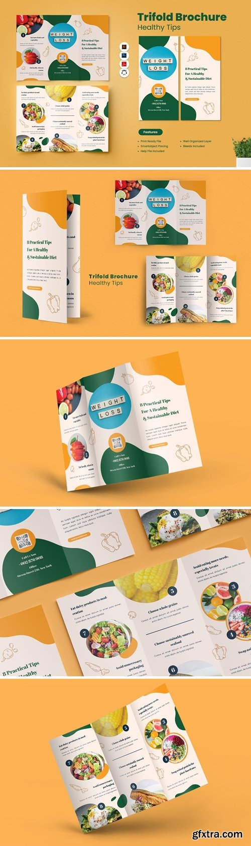 Healthy Tips Trifold Brochure