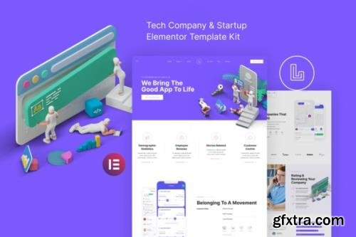 ThemeForest - Landon v1.0.0 - Tech Company & Startup Elementor Template Kit - 30953344