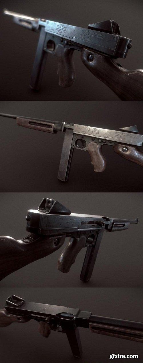Thompson Submachine Gun 3D model